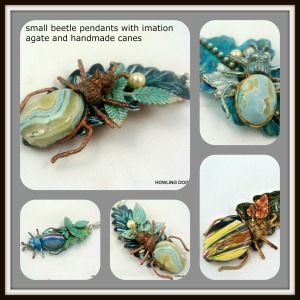 small beetle pendants